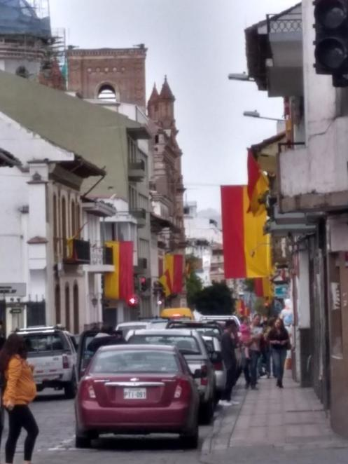 flags on the street